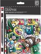 """Акварелни маркери - Mega Mash - Комплект от 12 цвята от серията """"Graphix"""""""