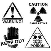 Силиконови печати - Внимание, опасност - печат