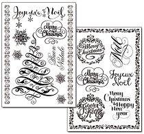 Трансферна хартия - Коледа - Опаковка от 2 листа с формат А4