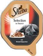 Sheba Tray Beef Select Slices in Gravy - Пастет с говеждо месо в сос грейви за котки на възраст над 1 година - разфасовка от 85 g - продукт