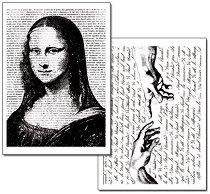 Трансферна хартия - Мона Лиза - Опаковка от 2 листа с формат А4