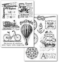 Трансферна хартия - Приключение - Опаковка от 2 листа с формат А4