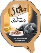Sheba Tray Turkey Sauce Speciale - Пастет с пуешко месо в бял сос за котки на възраст над 1 година - разфасовка от 85 g - продукт