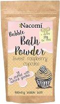 Nacomi Sweet Raspberry Cupcake - Пудра за вана с аромат на сладък малинов мъфин -