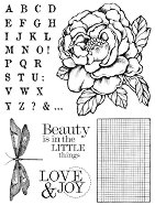 Гумен печат - Роза и азбука - продукт