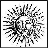 Гумен печат - Слънце -