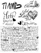 Гумен печат - Обичам те -