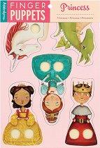 Кукли за пръсти - Принцеси - Комплект от 5 броя - играчка
