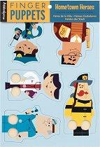 Кукли за пръсти - Професии - Комплект от 5 броя -