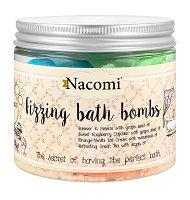 Nacomi Fizzing Bath Bombs Mix - Бомбички за вана с масла - 4 броя - олио