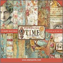 Хартии за скрапбукинг - Времето е илюзия - Комплект от 10 листа