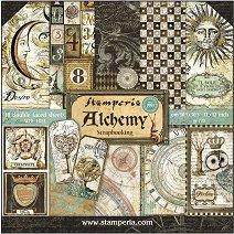 Хартии за скрапбукинг - Алхимия - Комплект от 10 листа