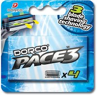 Dorco Pace 3 TRA 1040 - Резервни ножчета в опаковка от 4 броя -