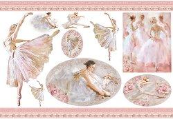 Декупажна хартия - Балерини - Размери 50 x 35 cm