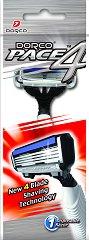 Dorco Pace 4 FRA 100 - Мъжка самобръсначка за еднократна употреба с 4 ножчета -