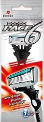 Dorco Pace 6 SXA 100 - Мъжка самобръсначка за еднократна употреба с 6 ножчета -