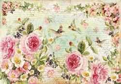 Декупажна хартия - Английски рози