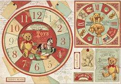 Декупажна хартия - Мечета и часовници - Размери 50 x 35 cm