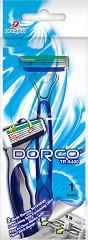 Dorco TRA 400 - Мъжка самобръсначка за еднократна употреба с 3 ножчета в опаковки от 1 и 4 броя -