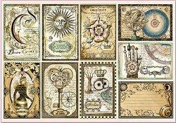 Декупажна хартия - Винтидж карти - Размери 50 x 35 cm