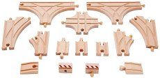 """Разширение за релсов път - Детски дървен комплект от серията """"Hape: Релси"""" -"""