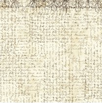 Декупажна хартия - Ръкопис - Размери 50 x 50 cm