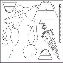 Декупажна хартия - Жена с шапка
