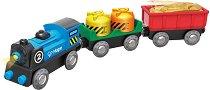 """Товарен влак - Детска дървена играчка от серията """"Hape: Влакчета"""" -"""