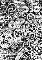 Декупажна хартия - Зъбни колела - Формат А4