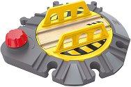 """Разпределителна релсова платформа - Детска дървена играчка от серията """"Hape: Аксесоари"""" -"""