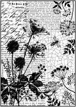Декупажна хартия - Пчели и надписи - Формат А4