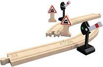 """Релси за релсов път - Детски дървен комплект от серията """"Hape: Релси"""" -"""