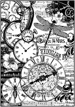 Декупажна хартия - Джобни часовници - Формат А4