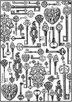 Декупажна хартия - Ключове - Формат А4