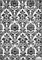 Декупажна хартия - Ретро тапет - Формат А4