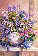 Люляк във ваза - Триша Хардуик (Trisha Hardwick) - пъзел