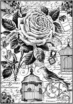 Декупажна хартия - Клетка за птици - Формат А4