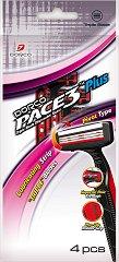 Dorco Pace 3 Plus TRA 100 - Мъжка самобръсначка за еднократна употреба с 3 ножчета в опаковка от 4 броя -