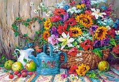 Градински цветя - Барбара Мок (Barbara Mock) - пъзел