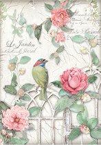 Декупажна хартия - Клетка и птица
