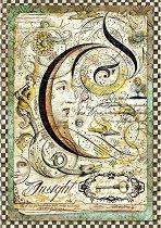 Декупажна хартия - Луна - Формат А4
