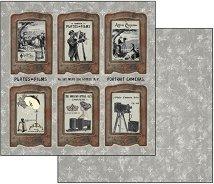Хартия за скрапбукинг - Фотография - Размери 30.5 х 30.5 cm