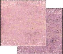 Хартия за скрапбукинг - Пастелно лилаво-розово - Размери 30.5 х 30.5 cm