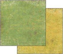 Хартия за скрапбукинг - Пастелно жълто-зелено - Размери 30.5 х 30.5 cm