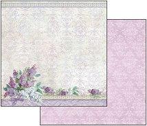 Хартия за скрапбукинг - Букет - Размери 30.5 х 30.5 cm