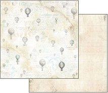 Хартия за скрапбукинг - Балони - Размери 30.5 х 30.5 cm