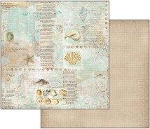 Хартия за скрапбукинг - Море - Размери 30.5 х 30.5 cm