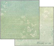 Хартия за скрапбукинг - Имало едно време - Размери 30.5 х 30.5 cm