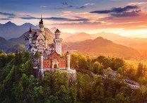 Изглед към замъка Нойшванщайн, Германия -