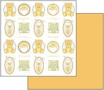 Хартия за скрапбукинг - Мечета и бухали - Размери 30.5 х 30.5 cm